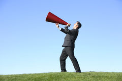 Free Businessman With Megaphone Royalty Free Stock Photos - 3252148