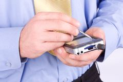 Free Businessman With PDA Stock Images - 6029304