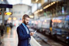 Free Businessman With Smart Phone Royalty Free Stock Photos - 65619268