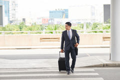 Free Businessman With Suitcase Going To Airport Stock Photos - 94446513