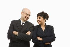 Businessman and woman. Stock Photo