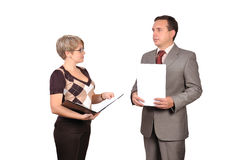 Businessman and woman Stock Photography