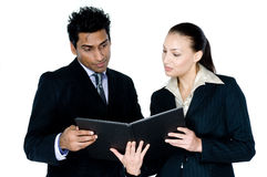 Businessman and Woman Stock Image
