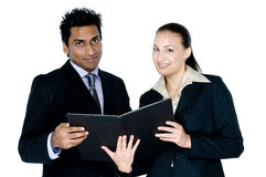 Businessman and Woman Royalty Free Stock Images