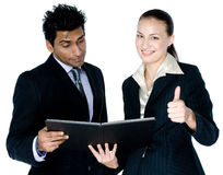 Businessman and Woman Stock Photo