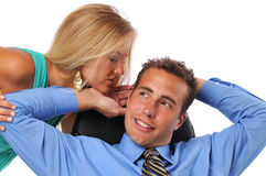 Businessman and woman Stock Photos
