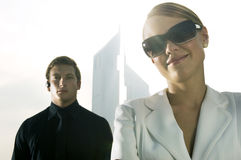 A businessman and woman stock photo