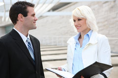 Businessman and woman Stock Images