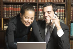 Businessman and Woman - Horizontal Royalty Free Stock Image