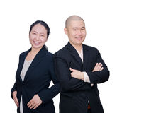 Businessman and woman in suit Stock Photo