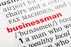 Businessman Word Definition Royalty Free Stock Images