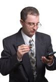 Businessman at work. Businessman is ready to deal Stock Photos