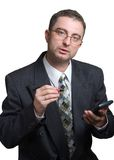 Businessman at work. Businessman is ready to deal Royalty Free Stock Image