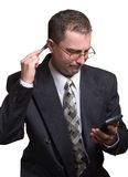 Businessman at work. Businessman is ready to deal stock photography