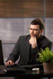 Businessman at work Stock Image