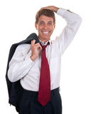 Businessman After Work Stock Photo