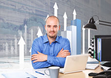 Businessman at work Royalty Free Stock Photography