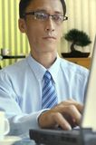 Businessman at work Stock Image