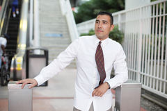 Businessman after work Royalty Free Stock Photo