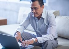 Businessman at work Stock Images
