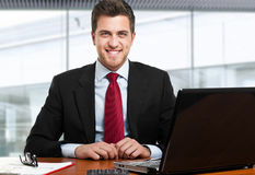 Businessman at work Royalty Free Stock Image