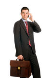 Businessman at work stock photos