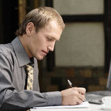 Businessman work in cafe Royalty Free Stock Photography