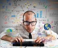 Businessman work Stock Image