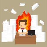 Businessman work crazy Stock Photography
