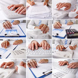 Businessman at work at his desk - collection Stock Image
