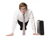 Businessman work out Royalty Free Stock Images