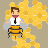Businessman worker bee Stock Image