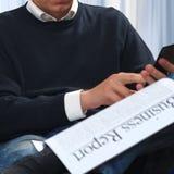 Businessman working royalty free stock image