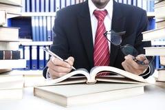 Businessman working Stock Image