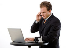 Businessman working Royalty Free Stock Photos