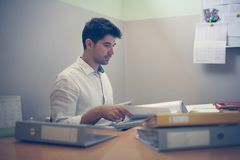 Free Businessman Working At His Desk. Royalty Free Stock Image - 119503166