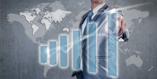 Businessman working on bar chart business strategy concept Stock Image