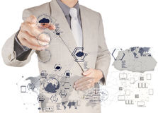 Businessman working with a Cloud Computing diagram Royalty Free Stock Photography
