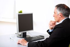 Businessman working on computer Royalty Free Stock Photography