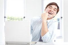 Businessman working with computer Royalty Free Stock Photography