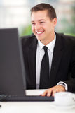 Businessman working computer Royalty Free Stock Photography