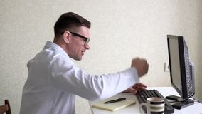 Businessman Working With Computer At Office