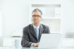 Businessman working at desk royalty free stock image