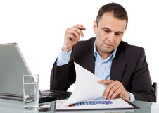 Businessman working desk Royalty Free Stock Photos
