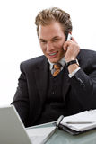 Businessman working at desk Royalty Free Stock Photo