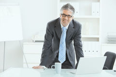Businessman working at desk Stock Image