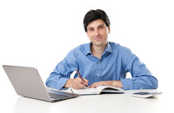 Businessman working at the desk Royalty Free Stock Photo