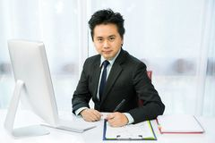 Businessman working Stock Image