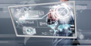 Businessman working on digital screen, new generation technology Stock Image