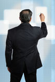Businessman Working on Digital Screen Stock Photos
